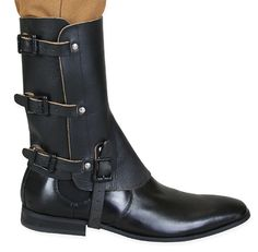 Deluxe Leather Gaiters - Black