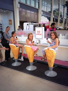 Enjoy there Gelato on our ice cream cone seats at the centre:mk kiosk