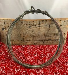 Antique Weathered Virgin Copper Wire Wreath Rustic Wedding Decor Centerpiece Metalwork Sculpture Jewelry Supply by LoftAtticEarth on Etsy