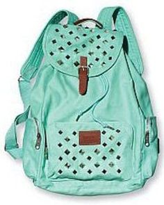 Victoria's Secret Pink Studded Backpack Mint / Aqua Studs