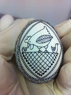 Precision Art Studio Blog: Which came first? The chicken or the egg? How about a Ukrainian egg with a chicken motif?