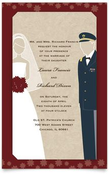 Save the date cards military themed army dress blues happily layered wedding invitations military themed army dress blues stopboris Images
