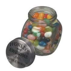 Choose from a variety of Jelly Belly candy jars or design your own! Jelly Belly candy jars from Zazzle. Shop now for custom candy jars & more! Wedding Favour Jars, Elegant Wedding Favors, Wedding Candy, Wedding Decor, Bow Wedding, Jelly Bean Jar, Jelly Beans, Glass Candy Jars, Custom Candy