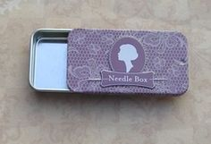 Vintage Needle Box to store your favorite needles. It is very cute and elegant.