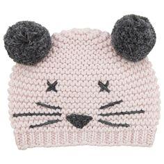 Lili Gaufrette Knitted Cotton Cat Hat at Childrensalon.com $59.49