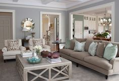 Living room - relaxing colours & tones (beige, cream, sage)
