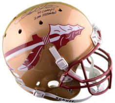 "Chris Weinke Autographed Full-Size Replica Helmet with ""99 Champs"" & ""2000 Heisman"" Inscriptions #SportsMemorabilia #FloridaStateSeminoles"