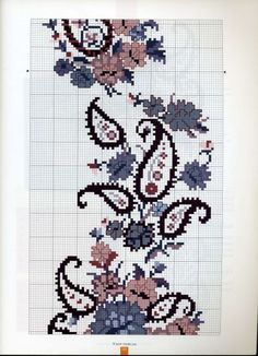 This Pin was discovered by Neş Cross Stitch Rose, Cross Stitch Borders, Cross Stitch Alphabet, Cross Stitch Flowers, Cross Stitch Kits, Cross Stitch Designs, Cross Stitching, Cross Stitch Embroidery, Hand Embroidery