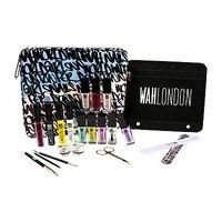 WAH-HEALTH AND BEAUTY-Cosmetics-WAH LONDON Ultimate Nail Art Kit-£25.00-100 Advantage card points. Fave colours, essential tools and tutorial cards; this is the ultimate kit to start building your own nail art collection. FREE Delivery on orders over 45 GBP.