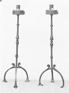 Pair of candelabra  Date: 16th century   Culture: French or Spanish   Medium: Iron