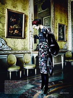 Catherine McNeil by Mario Testino for Vogue UK