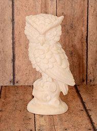 Vintage Alabaster Owl Statue