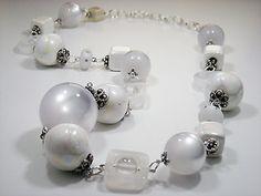 Zandstorm: Witte halsketting (Juwelen,halsketting)