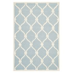 Bring a touch of warmth to your bedroom or study with this power loomed wool rug, featuring pastel hues and a trellis pattern. Use to define spaces in your l...