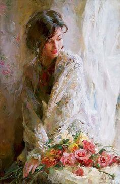 Michael and Inessa Garmash have created beautiful paintings, stained-glass windows, mosaics and drawings exhibited all over Europe. Woman Painting, Painting & Drawing, Illustration Art, Illustrations, Foto Art, Beautiful Paintings, Oeuvre D'art, Female Art, Amazing Art