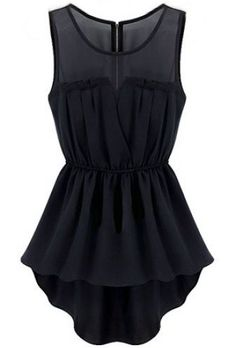 Black Sleeveless Back Zipper Bandeau High Low Dress
