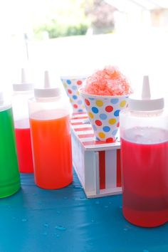 It's Summertime! For our family that means lots of icy treats. One of our family favorites are snow cones. We love them so much in fact, I bought a fun little snow cone machine. We will set it up on warm afternoons and enjoy a cool treat.One thing I've done that has saved us a lot of money, has been making my own homemade snow cone flavor. It is so easy and so inexpensive. The best part is that it doesn't take a lot of time either.