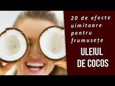 🌴ULEIUL DE COCOS - 20 de efecte uimitoare pentru frumusețe - doar cu un ... Youtube, Fitness, Youtubers, Youtube Movies