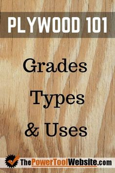 Plywood 101 - Grades, Types, and Uses where to seek sensible Very Best Of Popular Wood Projects Shabby Chic products Woodworking Skills, Woodworking Furniture, Fine Woodworking, Woodworking Crafts, Wooden Furniture, Woodworking Techniques, Woodworking Workbench, Woodshop Tools, Youtube Woodworking