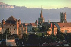 Lausanne, Switzerland--the so-called 'San Francisco' of Europe