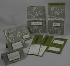 Hochzeitspapeterie - Romantica - Handgefertigt mit viel Liebe zum Detail.  Verwendete Materialien alle von Stampin´Up!