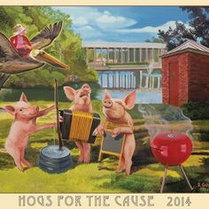 2014 Hogs for the Cause Poster | Hogs for the Cause