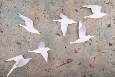 3D Bird Wall Art: 12 Snow White Gull Silhouettes for 3D Wall Decor, Nursery, Children's Room, Wedding. $40.00, via Etsy.