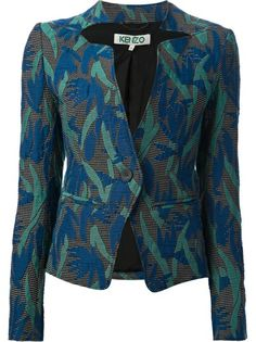KENZO Floral Embroidered Blazer