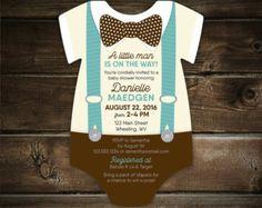 Invitación 10 pajarita bebé ducha por LittleBeesGraphics en Etsy