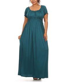 Look what I found on #zulily! Teal Empire-Waist Maxi Dress - Plus #zulilyfinds