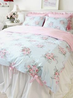 Share this page with others and get 10% off! shabby chic ruffled bedding #LuxuryBeddingBreakfast