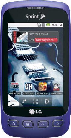 LG Optimus S Android Phone, Purple (Sprint)