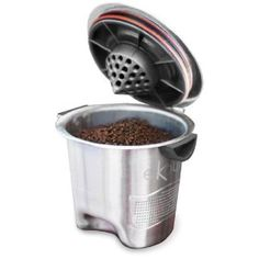 Ekobrew Cup, Refillable K-Cup For Keurig K-Cup Brewers. Disposable K-Cup replacement! Keurig makes it's own reusable K-Cup, but my boyfriend says this brews significantly better and is easier to clean. Keep the used grinds for composting, too!
