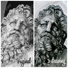 Zeus black and grey drawing