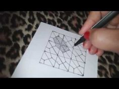How to draw BUCKY tangle pattern ? - YouTube