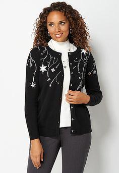 Falling Snowflakes Cardigan, 9-0036022345, Falling Snowflakes Cardigan #cbfallfavorites