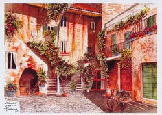 Toscana-Interno di casolare tipicamente Toscano -