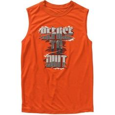 Athletic Works Boys' Graphic Poly Muscle Tank Top, Size: 18, Orange