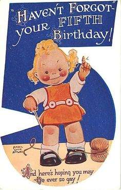 MABEL LUCIE ATTWELL FIFTH BIRTHDAY THE NUMBER FIVE UNUSUAL in Collectables, Postcards, Topographical: British | eBay