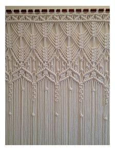 Shipping time: 3-4 weeks. Large Macrame Curtain made with 8mm cotton cord. Color : white Macrame wedding curtain . Curtain Dimensions : Width: 152 cm // 60 in ; Lenght: 233 cm // 92 in . Is sent without rod. Would work wonderfully as doorway curtain, window curtain, room divider . Looking for something else: check this out: https://www.etsy.com/shop/mislanascreativas? Thank you for visiting my shop