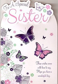 For a Special sister Happy Birthday by bgc studios Happy Birthday Sister Messages, Birthday Greetings For Sister, Happy Birthday Best Friend Quotes, Birthday Wishes Messages, Sister Birthday Quotes, Happy Birthday Friend, Best Birthday Wishes, Happy Birthday Funny, Happy Birthday Images