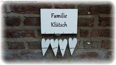 Türschild Familienschild Herzen Landhaus Shabby von Handgemachte Holzarbeiten & dekorative Geschenke by Alexandra Sangs auf DaWanda.com