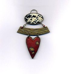 Pendant of polymer clay Statement Unmounted