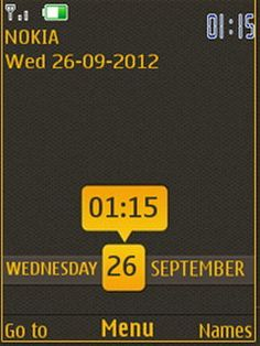 Download Free Yellow Nokia Clock S40 Theme Mobile Downloads Hundreds Of 5300630062676500 Classic65555310561063016500