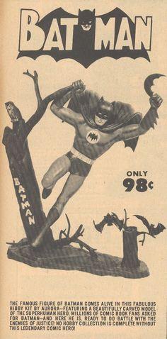 1960's Aurora Batman Model Kit Ad