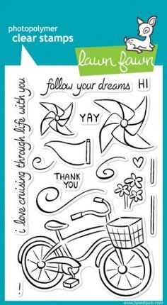 Amazon.com: Cruising Through Life Clear Stamps (Lawn Fawn): Arts, Crafts & Sewing