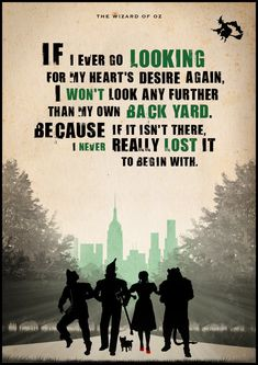 The Wizard of Oz Poster Movie quote Inspirational by Redpostbox