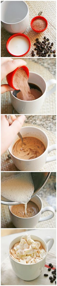 HOW TO: Make a Mocha Latte {in just 3 ingredients!} #HowTo  #Coffee #Latte #BuffaloBucksCoffee