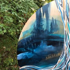 Sneak Peek of abstract landscape acrylic painting by Canadian artist Vancouver artist April Lacheur. Tree Paintings, Original Paintings, Nature Artists, Art Bag, Canadian Artists, Abstract Landscape, British Columbia, Bold Colors, West Coast