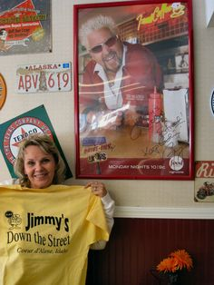 Jimmy's Down the Street in Coeur d`Alene, Idaho.  Just one of 4 restaurants on my bucket from the Diner's Drive-in's and Dives TV show ... I had the Ruben that was featured on his show, and it was AWESOME!!!